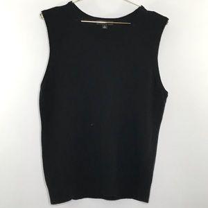 Ann Taylor sweater vest sleeveless black XLarge